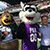 Brian Gates with Mascots