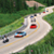 Supercars driving down Bryce Canyon for Beehive Drive