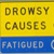 Drowsy Driving causes crashes sign