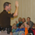 Utah Highway patrolman talking to children