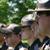 Utah Highway patrol officers standing in line