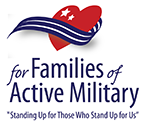 For Families of Active Military Logo