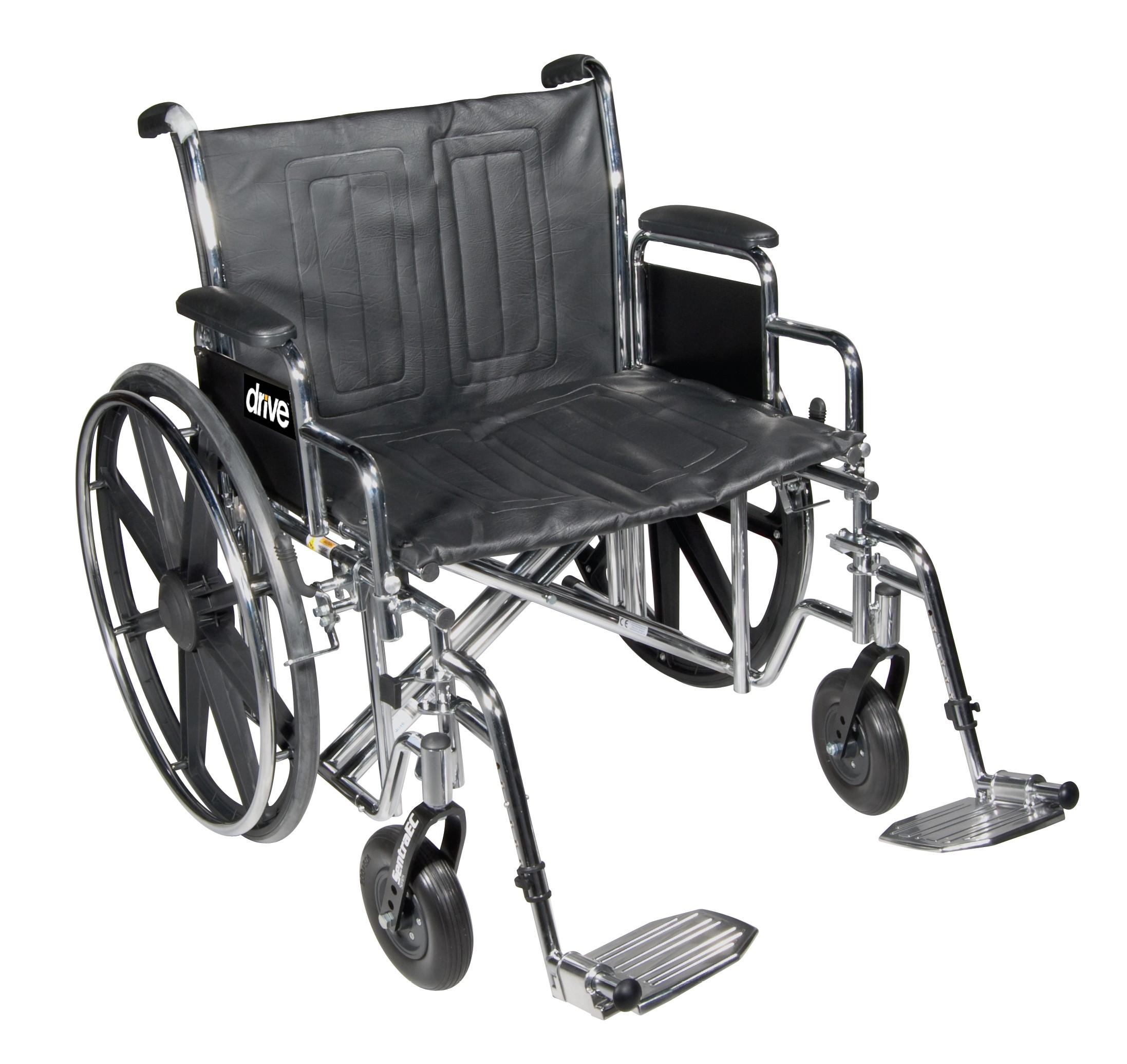 Drive Medical STD24ECDDA-ELR 24 Inch Wheelchair