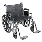 Drive Medical STD24ECDDA-ELR 24 Inch Wheelchair