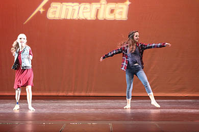 Taylor and Kenzie Dancing