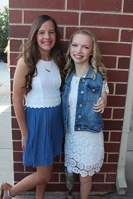 Taylor and Kenzie