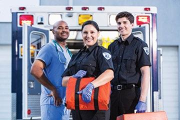 EMT Crew with Ambulance