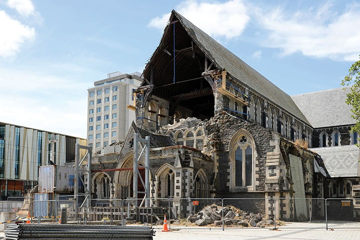Christchurch earthquake destruction
